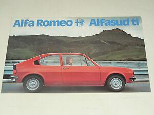Prospectus-Depliant-Auto-ALFA-ROMEO-ALFASUD-TI-brochure-prospekt-car
