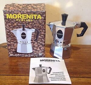 Image Is Loading MORENITA EXPRESS 1 CUP COFFEE MAKER ITALY