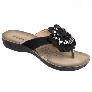 LAdies Womens Summer Chain Slider Casual Holiday Flip Flop Sandal Shoes Size 3-8