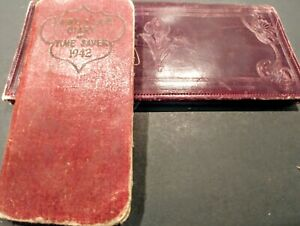 Vintage-Advertising-Leather-Breast-Wallet-and-Laird-amp-Lee-Diary-amp-TimeSaver-1942