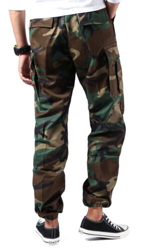 Mens Casual Work Camp Cargo Pants Trousers Military Combat Army BDU Pants