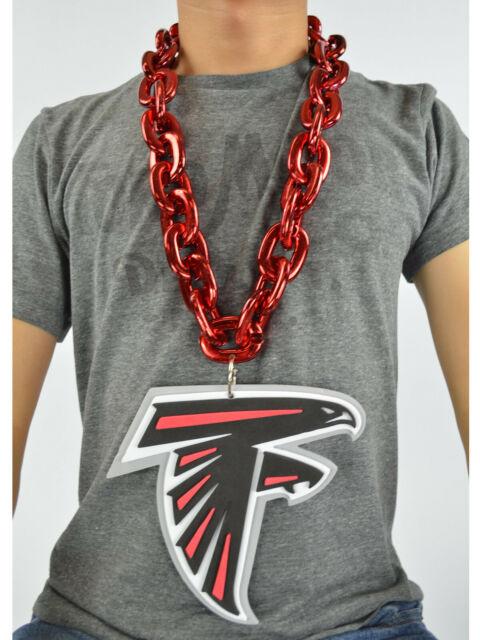 hot sale online f4e87 2df27 NFL Atlanta Falcons Red Burgundy Fan Chain Necklace Foam Magnet - 2 in 1