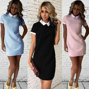 5afde58f0e8b6 Image is loading Summer-Women-Short-Sleeve-Office-Bodycon-Evening-Party-