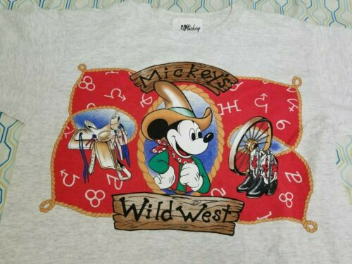 VTG 90s Disney Jerry Leigh Wild West Mickey Mouse