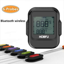 HOBFU Digital Wireless Bluetooth Remote Cooking Food Meat BBQ Thermometer LY