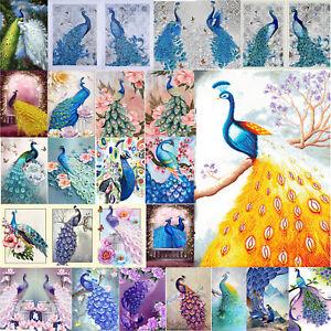 5D-Peacock-Diamond-Embroidery-Painting-DIY-Cross-Stitch-Craft-Kit-Home-Art-Decor