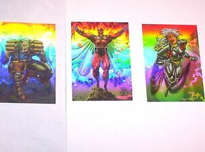 1993-X-MEN-SERIES-2-HOLOGRAM-Holithogram-CHASE-INSERT-Set-Cards-H1-H3-MAGNETO