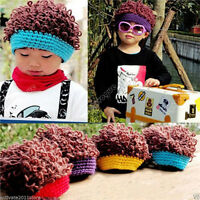 Winter Baby Toddler Boy child Girl Kids Xmas Hair Wig Warm Cap Hat Beanie 27