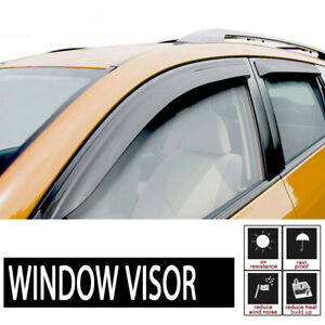 4pcs For 01-04 Chevrolet S10 Crew Cab Sun Rain Guard Vent Shade Window Visors