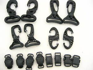 KAM quality metal plastic Swivel Trigger Clip backpack 8 shaped Carabiner Clip