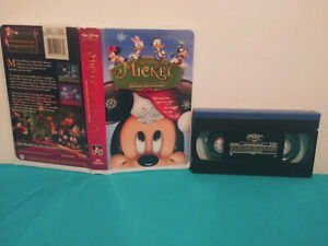 Mickey S Twice Upon A Christmas Vhs Tape Clamshell French Ebay