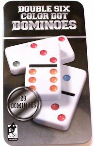 Dominos-28-pcs-6-Couleur-Boite-Mmetal-18-5x11-cm-Jeu-de-Societe