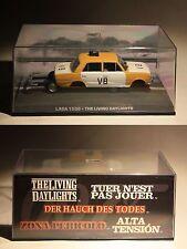 De Agostini-James Bond 007-Lada 1500-THE LIVING DAYLIGHTS-Modell-PC Vitrine-rare