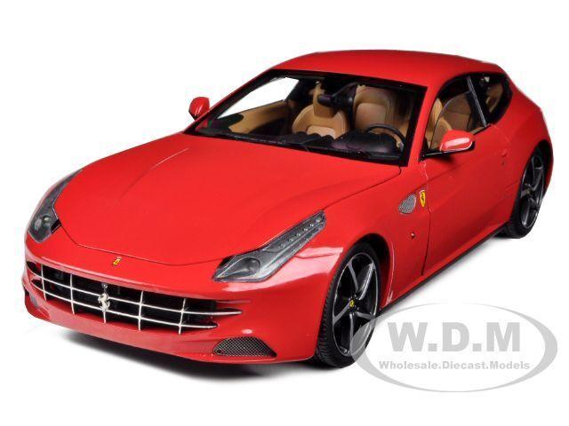 Ferrari Ff Gt V12 4 asientos de Color rojo Elite Elite Elite Edition 1 18 Auto Modelo por Hotwheels w1105 5b9943