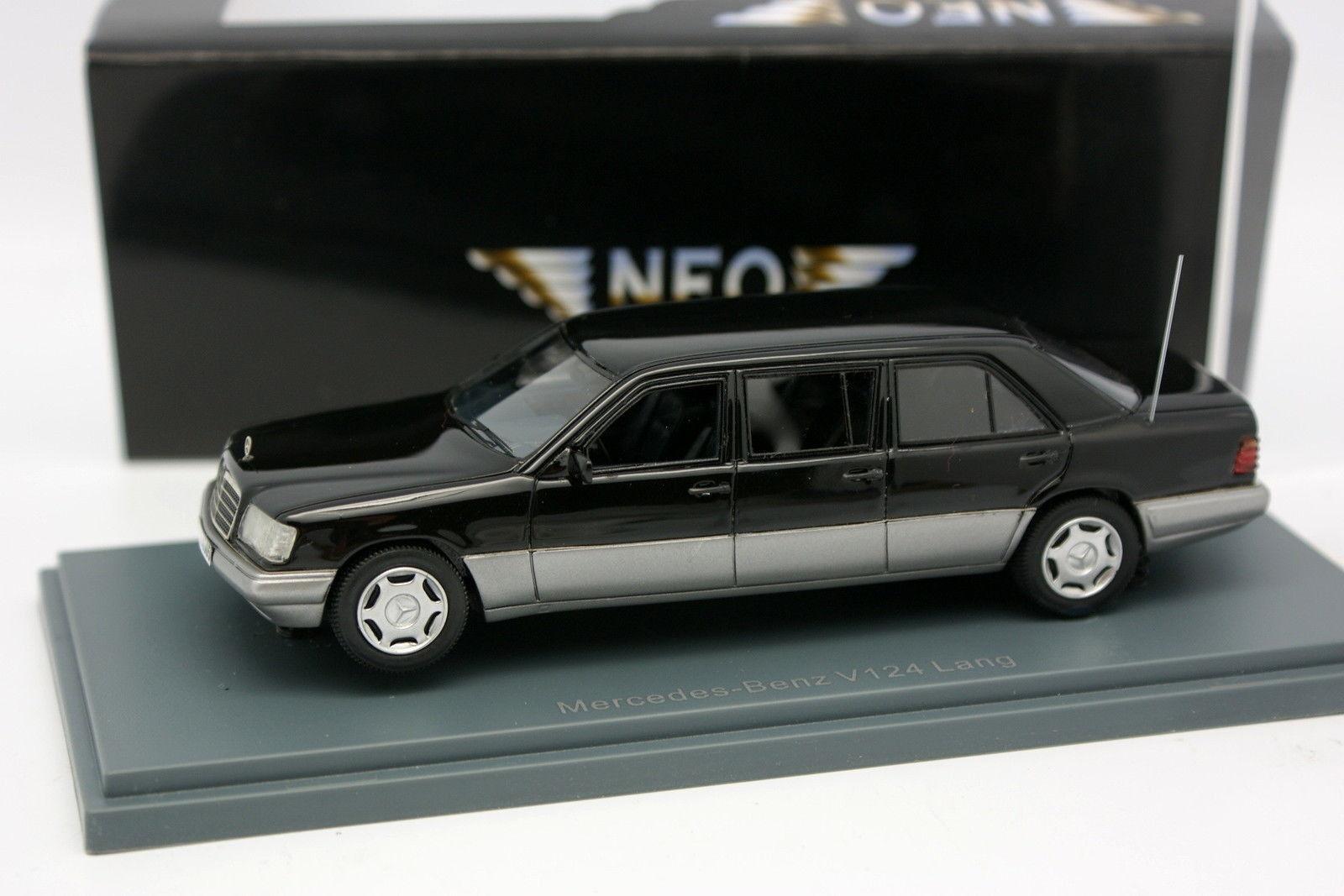 Neo - 1   43 - mercedes 250 e w124 lang limusina negra