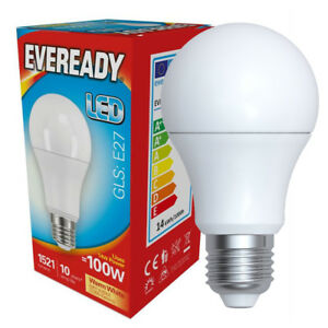 4 x LED light bulbs super low energy 240v E27 Edison screw lamp 9 watt soft whte