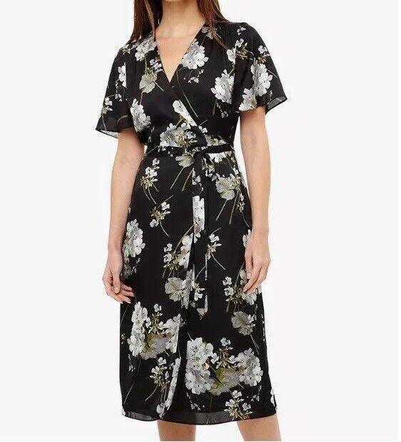 B119phase eight Tasha Floral Wrap Dress Größe UK16 RRP
