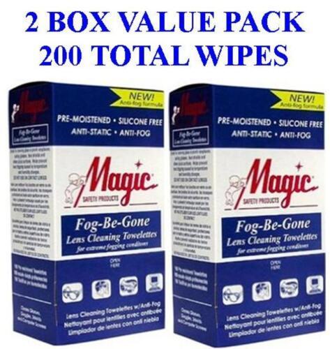 Anti-Fog Anti-Stat Pre-Moisened Mult-Purpose Lens Cleaning Wipes 200 Each