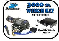 3000lb Kfi Winch Mount Kit 09-10 Polaris Sportsman 6x6