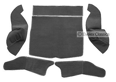 MGB GT BOOT CARPET SET DAMASK RED CARRELLI /& HESSIAN BACKING FROM 1966 TO 1980