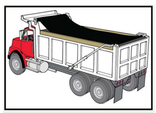 EasyCover Black Dump Truck Trailer Mesh Flip Tarps 7ft W x 34ft L