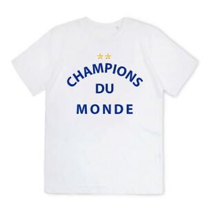 T-shirt Homme - Football Champions Du Monde France 2 étoiles coupe ... cbc8e4f79225