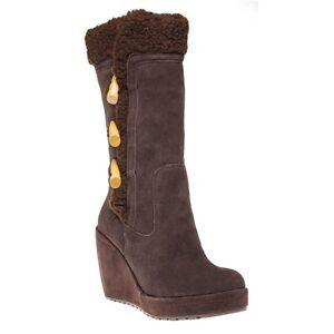 New-Womens-Rocket-Dog-Brown-Biddy-Suede-Boots-Mid-Calf-Zip