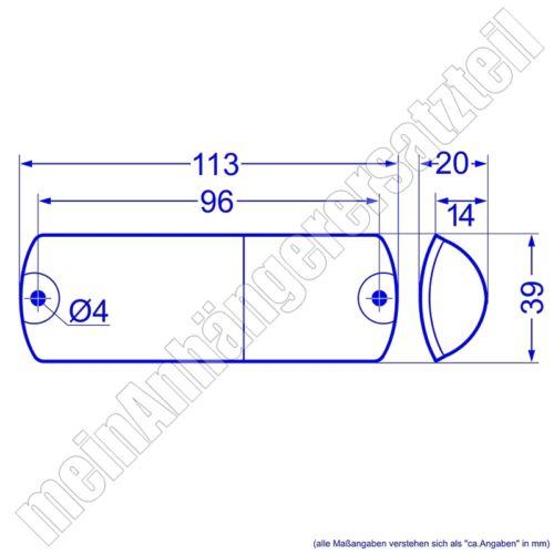 Hella Lichtscheibe 9EL 087 769-001 L R für Zweikammerleuchte Rückleuchte