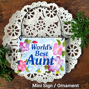 World-039-s-Best-AUNT-Gift-Ornament-Mini-Sign-All-Family-Members-Available-USA