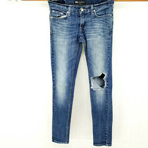 Levis-524-Too-Superlow-Women-s-Distressed-Skinny-Jeans-Size-5-M-Stretch-Casual