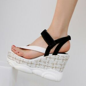 Womens Sexy Summer Thong Sandals Wedge