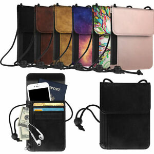 c2516ed28c6 Premium PU Leather Passport Holder Neck Pouch  RFID Blocking  Travel ...