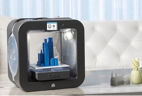 NEW 3D Systems Cube 3D Wireless Printer, 3rd Generation, Grey, Windows and MAC