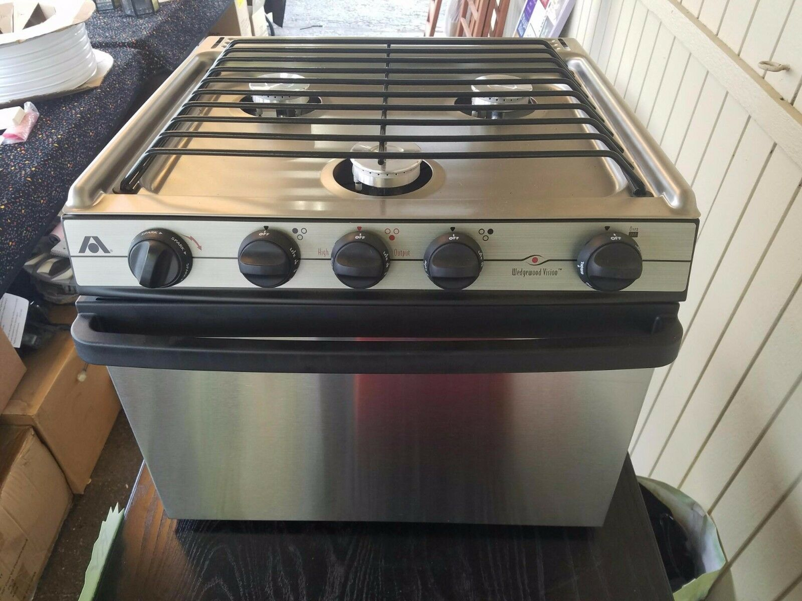 Atwood High Output Wedgewood Stainless Stove Rv Camper