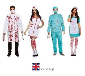 GéNéReuse Adulte Sanglant Médecin & Infirmière Homme Femme Costume Halloween Robe Fantaisie Lot Tenue-afficher Le Titre D'origine éConomisez 50-70%
