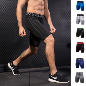Mens-Compression-Shorts-Tight-fit-Quick-dry-Moisture-Wicking-Workout-Gym-Bottoms
