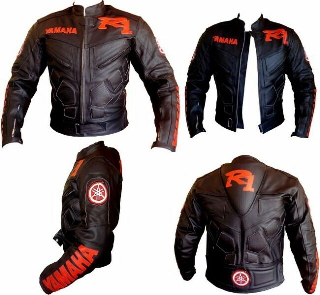 YAMAHA R1 Motorbike Racing Leather Jacket Biker Jacket Motorcycle Leather Jacket