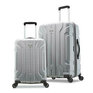 BRAND-NEW-Samsonite-Belmont-DLX-2-Piece-Hardside-Luggage-Set-Silver-20-034-amp-25-034