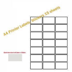 A4 Printer Labels Stickers 20 sheets - Cambridge, United Kingdom - A4 Printer Labels Stickers 20 sheets - Cambridge, United Kingdom