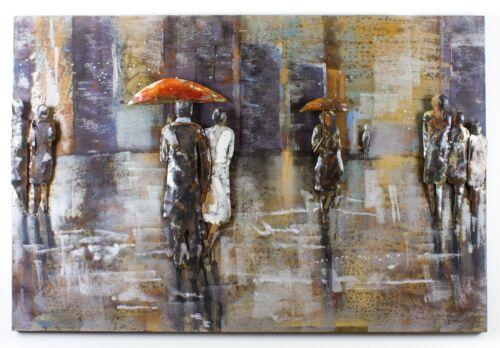3d metallbild Rainy Day Vintage conception industrielle IMAGE 120x80 à la main 384