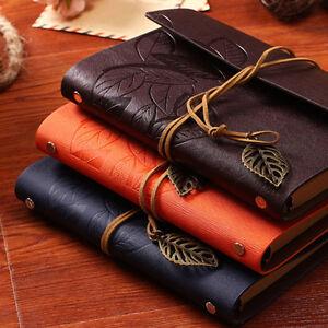 Vintage Notebook Diary String Leaf Leather Travel Journal Sketchbook Books AU