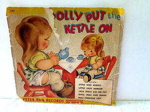 Record Sleeve (no record) 1952 For Polly Put the kettle On, etc