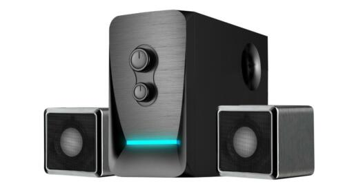 Subwoofer 2.1 Channel RCA NEW Sykik SPEA0218BT Bluetooth Stereo Speaker System