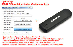 Details about Open-Pcap WiFi Sniffer, 802 11 packet sniffer(AirPcap  alternative) for Windows