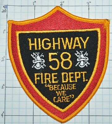 TENNESSEE Highway 58 Engine Station Ladder 1 FIREFIGHTER Patch NEVER DULL MOMENT