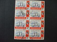 BAHAMAS. 1971 General Issue 10C Block of 8 Part Set of 1vs FU Cat 2.40 (20Y)