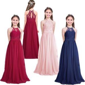 Image is loading Pageant-Flower-Girl-Dress-Kids-Birthday-Wedding-Bridesmaid- b63b7a39f7ba