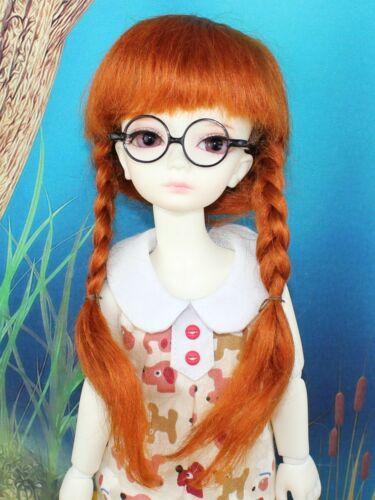 """Brand New Carrot 7-8/"""" Mohair 1//4 BJD SD Super Dollfie  Mohair Pigtail Wig"""