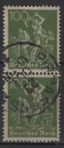 DEUTSCHES-REICH-Mi-187-c-senkr-Paar-gestempelt-geprueft-MW-80-U064-1