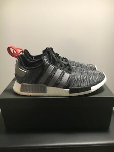c9f41b45d98fe Men's ADIDAS NMD R1 Glitch Core Black Grey Red Size 13 | eBay